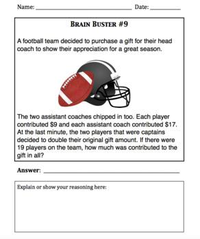 Math Brain Busters