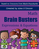 Math Brain Busters (Algebra) - Expressions & Equations