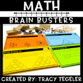 Early Finisher Math Task Cards (Math Brain Busters)