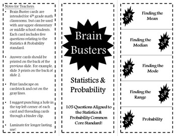Math Brain Busters - Statistics and Probability