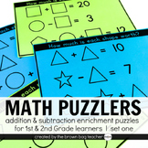Math Logic Puzzles Set 1: 1st & 2nd Grade Math Enrichment