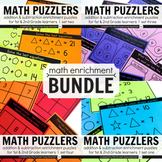 Math Logic Puzzles BUNDLE: 1st & 2nd Grade Math Enrichment