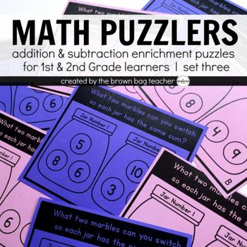 Math Brain Puzzles Set 3: 1st & 2nd Grade Enrichment