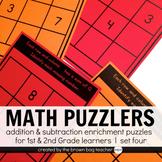 Math Logic Puzzles Set 4: 1st & 2nd Grade Math Enrichment