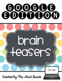 Math Brain Teasers- Google Edition