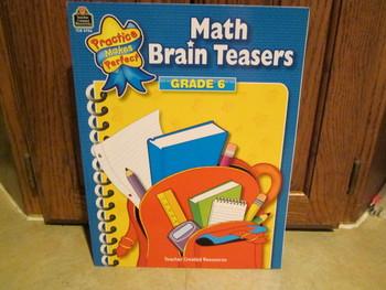 Math Brain Teasers - Grade 6 - By Teacher Created Resouces