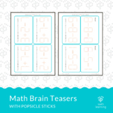 Math Brain Teasers with Popsicle Sticks
