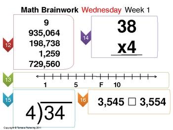 Math Brainwork Activity Slide Presentation Weeks 19 thru 24