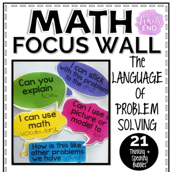 Math Focus Wall: The Language of Problem Solving {Classroo