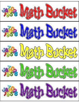 Math Bucket Labels