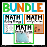 Math Buddy Games BUNDLE Partner Games for Centers and Stations