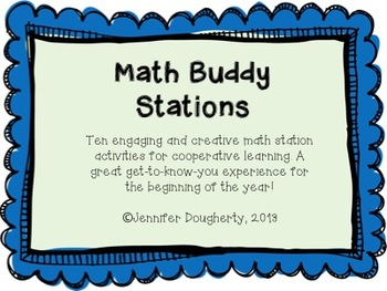 Math Buddy Stations - Cooperative Learning Fun for the Beginning of the Year!