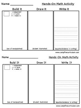 Math: Build It, Draw It, Write It!