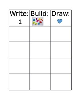 Math: Build, Write, Draw Mat