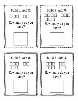 Math Build and Add Activity- Kindergarten