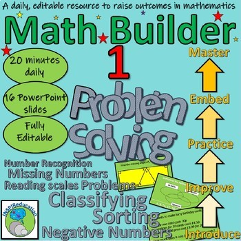 Math Builder Bundle - 9 Math Powerpoint, editable, ready to go, 184 slides