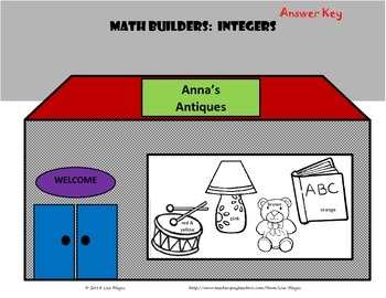 Math Builders:  Integer Operations with Word Problems