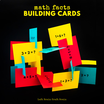 Math Building Cards - Single Digit Addition No Regrouping