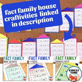Math Bulletin Board Activity, Fact Family Craftivitiy, 1st Grade Bulletin Board