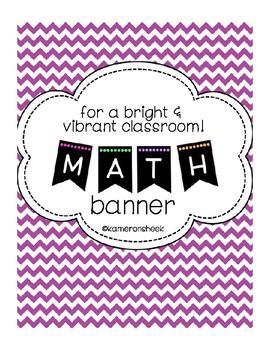 Math Bulletin Board Banner