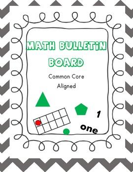 Math Bulletin Board Grey Chevron