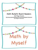 Math Bulletin Board Headers