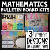 Math Bulletin Board Kits (Math Talk, Math Key Words, and M