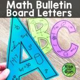 Math Bulletin Board Letters