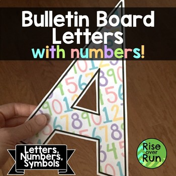 Math Bulletin Board Alphabet with Handwritten Numbers