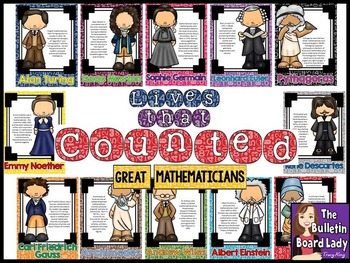 Math Bulletin Board - Lives That Counted