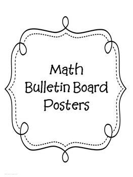 Math Bulletin Board Posters