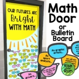Math Bulletin Board or Door Decoration with Sunglasses