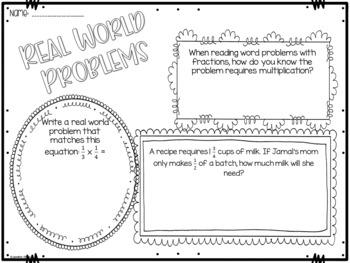 Math Bulletin Boards {5th Grade Common Core: Fractions}