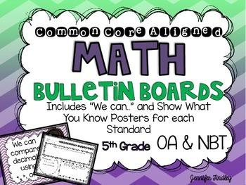 Math Bulletin Boards {5th Grade Common Core: OA and NBT}