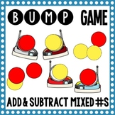 Math Bump Game - Add and Subtract Mixed Numbers with Unlike Denominators