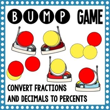 Math Bump Game - Convert Fractions and Decimals to Percents