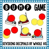 Math Bump Game - Dividing Decimals by Whole Numbers