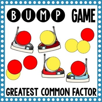 Math Bump Game - Greatest Common Factor