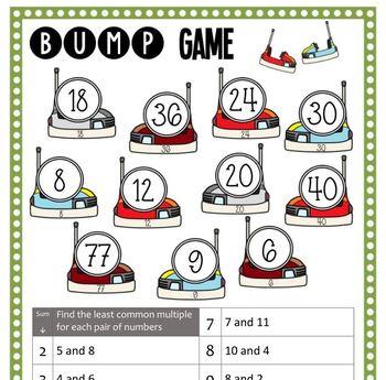 Math Bump Game - Least Common Multiple