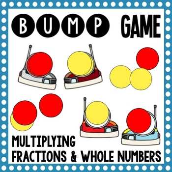 Math Bump Game - Multipyling Fractions and Whole Numbers