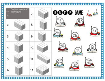 Math Bump Game - Volume with Unit Cubes 5.MD.5a