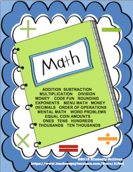 Back to School Math Bundle 150 Printables  Early Finishers