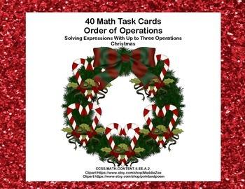 Simplifying Expressions-160 Math Task Cards- CCSS.MATH.6.EE.A.2.C-Math Bundle