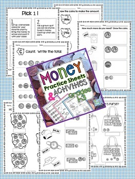 Math Bundle 2nd Grade ~ Telling Time  Money and Measurement 2nd Grade