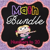 Kindergarten Math Activities - Morning Work, Games, Number Posters, Clip Cards