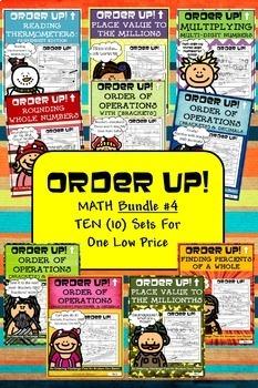 Math Bundle #4 Order Up! (10 Sets)