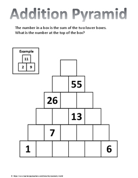 Math Bundle: Brain Teasers