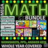 MEGA MATH BUNDLE Back to School-all topics for a whole yea