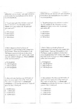 Math Bundle Exit Slips (Common Core)