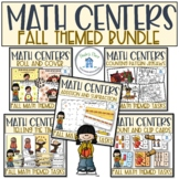 Math Bundle Fall Autumn Theme